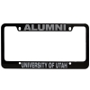 Black University of Utah Alumni License Plate Frame