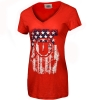 Women's Athletic Logo Patriotic V-Neck Shirt