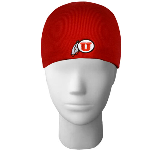 Red Athletic Logo Beanie