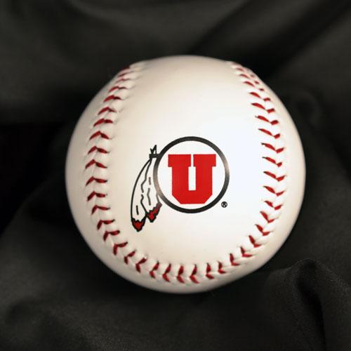 University of Utah Athletic Logo Autograph Baseball