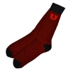 Red and Black Block U Dress Sock