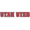 Red Block Letter Utah Utes Decal