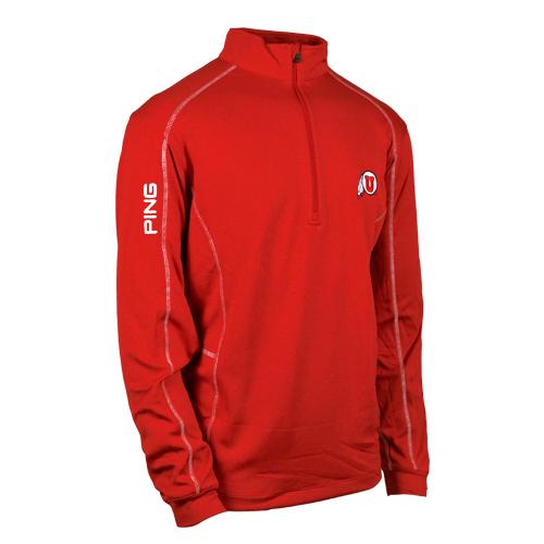 Ping Quarter Zip Red Jacket