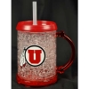 Utah Utes Athletic Logo Crystal Freezer Junior Mug