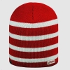 Utah Red and White Striped Beanie