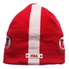 Utah Athletic Logo Red and White Beanie