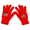 Red Utah Utes Athletic Logo Knit Gloves
