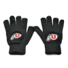 Black Athletic Logo Gloves
