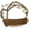 Bronze Utah Bracelet with Pearls