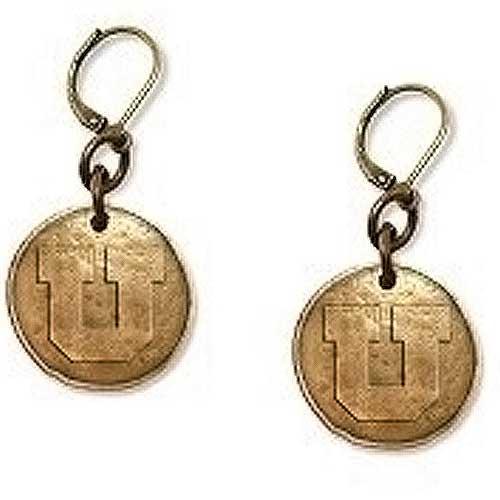 Utah Block U Bronze Earrings
