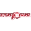 Red Utah Man Athletic Logo Decal