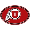 Red Oval Utah Athletic Logo Decal