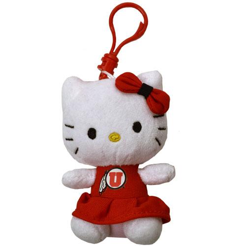 Utah Athletic Logo 3 Inch Hello Kitty Key Chain