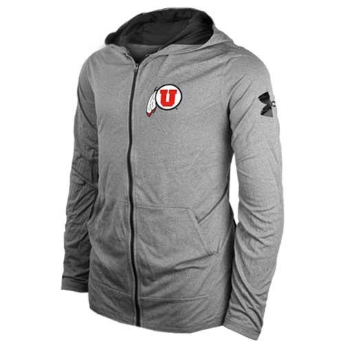 Utes Athletic Logo Under Armour Full Zip Jacket