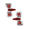 Athletic Logo Barrette Bow 2-Pack