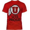 University of Utah Mens Ute Proud Tribal Athletic Logo Tee thumbnail