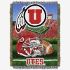 Utah Utes Athletic Logo Tapestry Woven Blanket