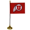 Utes Athletic Logo Desk Flag