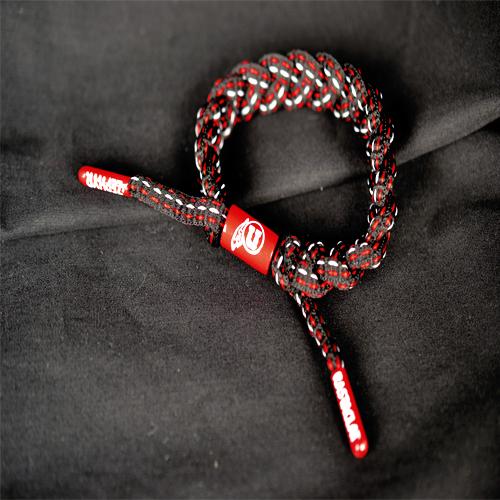 Black Utah Utes Rasta Bracelet