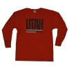 Youth Utah Utes Red Long Sleeve T-shirt