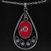 Utah Utes Athletic Logo Teardrop Necklace