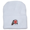 Newborn Utah Athletic Logo White Beanie