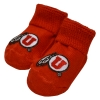 Red Infant Utah Athletic Logo Booties
