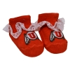 Red Doily Infant Utah Athletic Logo Booties