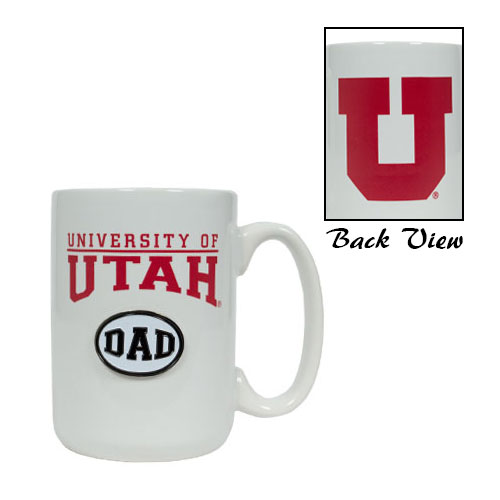 University of Utah Dad White Mug