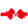 Athletic Logo Red Bow Headband