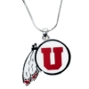 U Athletic Logo Necklace by Rhinestone