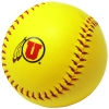University of Utah Athletic Logo Yellow and Red Softball