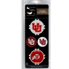 Interlocking U and Athletic Logo Poker Chip Ball Marker Set