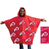 Red Adult Poncho with Athletic Logo