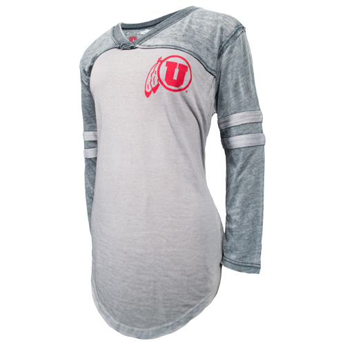 Womens Utah Utes Athletic Logo Long Sleeve Tee