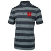 Under Armour Block U Black Striped Polo Shirt