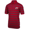 Under Armour Athletic Logo Red Striped Polo