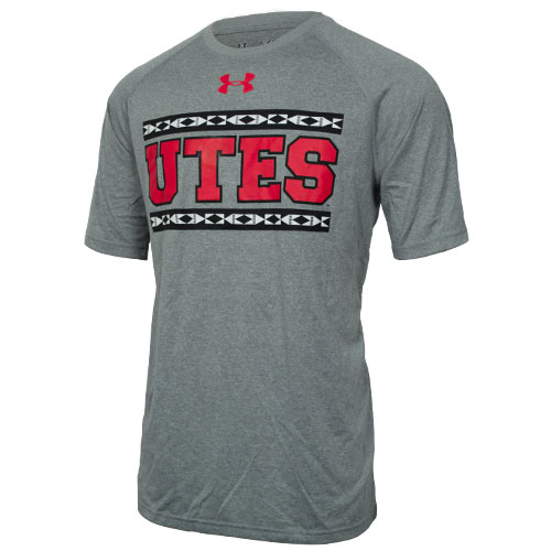 "Under Armour Tribal Pattern ""Utes"" Mens Loose T-shirt"