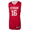 Under Armour Utah Basketball #16 Red Jersey