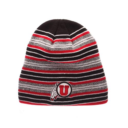 Utah Utes Athletic Logo Striped Beanie