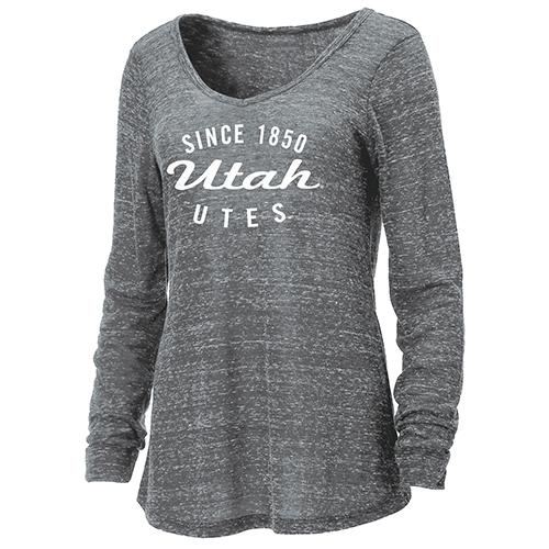 Ouray Women's Utah Utes Long Sleeve V-Neck
