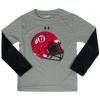 Youth Athletic Logo Long Sleeve with Helmet Logo