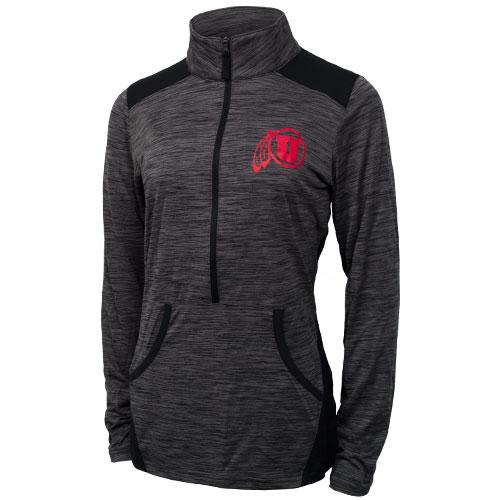 Champion Womens Athletic Logo Half Zip Sweatshirt | Utah Red Zone
