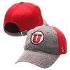 Zephyr Womens Athletic Logo Hat Grey Front and Red Back