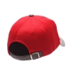 Zephyr Womens Athletic Logo Hat Grey Front and Red Back thumbnail