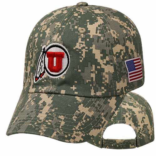 Top of the World Digital Camo with Athletic Logo Hat