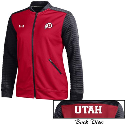 Under Armour Utah Athletic Logo Womens Warm Up Jacket