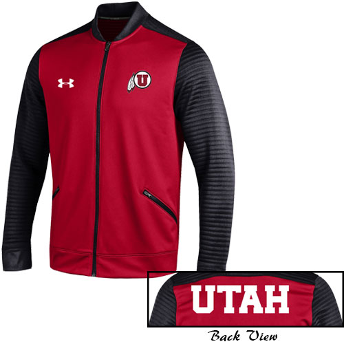 Under Armour Utah Athletic Logo Mens Warm Up Jacket