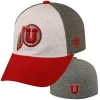 Utah Utes Red and Gray Athletic Logo Hat
