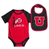 Utah Utes Athletic Logo Onesie Bib Set
